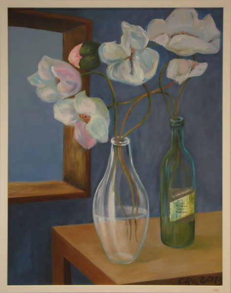 Orchideen in Glas