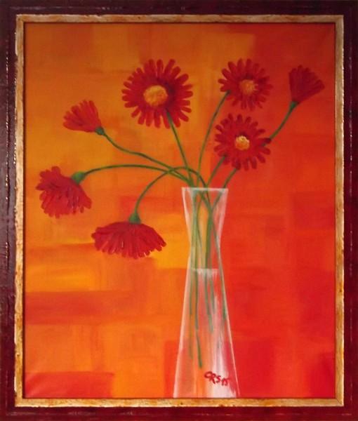 Sieben rote Gerbera (2015)