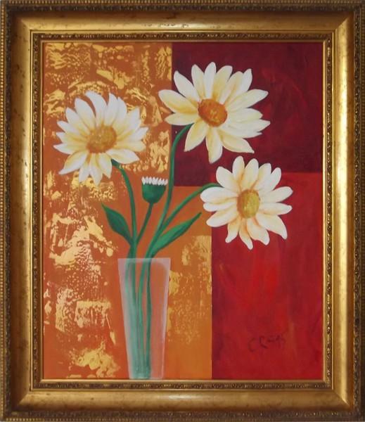 Vase mit Margeriten